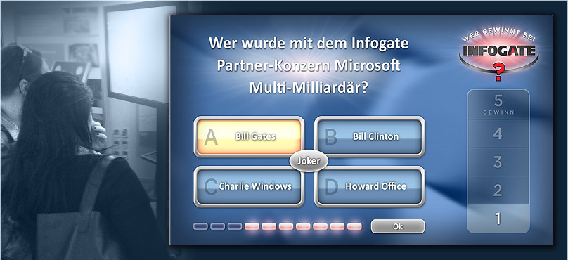 Messequiz mit Touchscreen